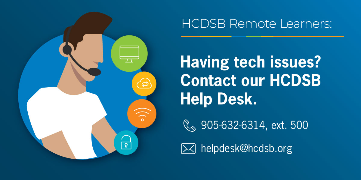 Contact our HCDSB Help Desk